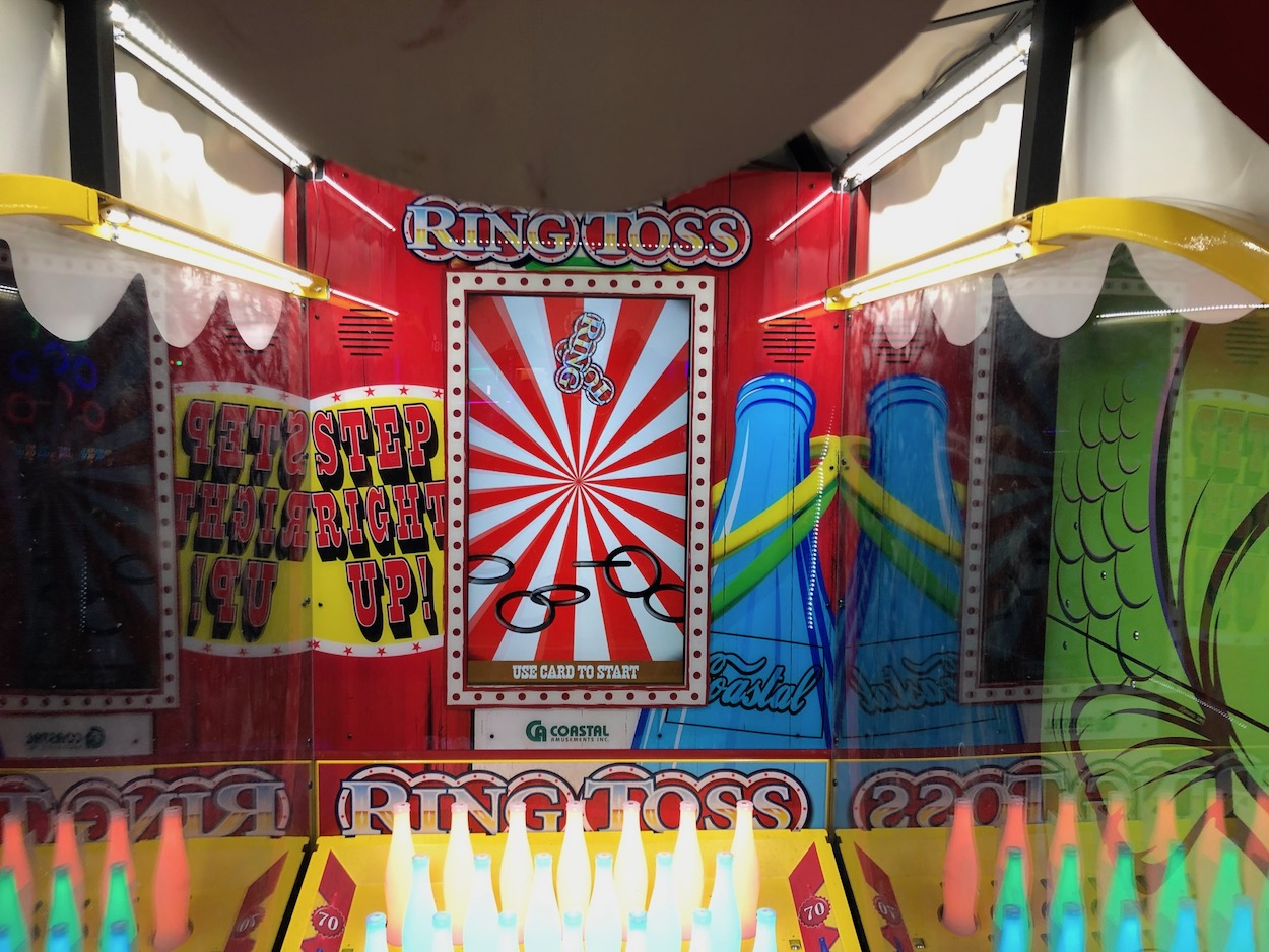 Image of play area of the ring toss arcade game at dave and busters